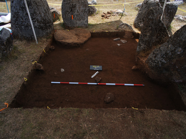 An excavation at one of the sites identified with the GPR